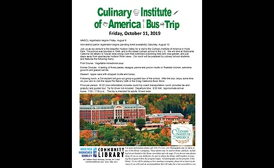 This event was Cancelled! - Culinary Institute of America Bus Trip  with the Mastics-Moriches-Shirley Community Library