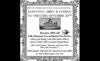 Downton Abby Tea