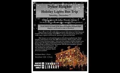 Dyker Heights Holiday Lights Bus Trip with the Mastics-Moriches-Shirley Community Library