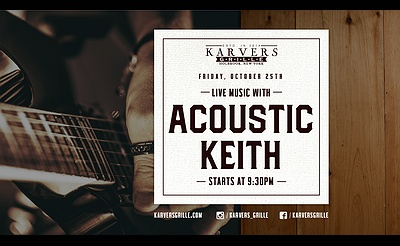 Acoustic Keith at Karvers Grille