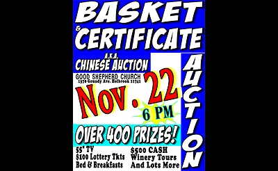 Basket & Certificate/Chinese Auction
