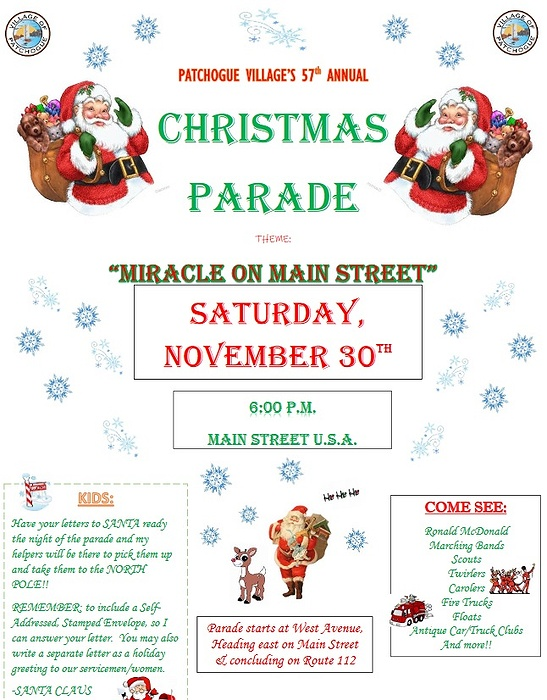 Patchogue Christmas Parade 2020 Patchogue Village's 57th Annual Christmas Parade & Tree Lighting