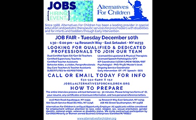 Job Fair Alternatives For Children