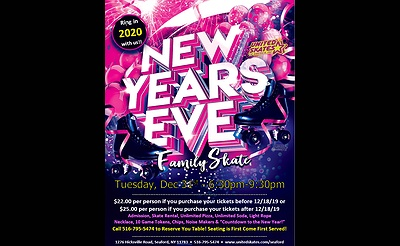 Family New Year's Eve Party at United Skates of America