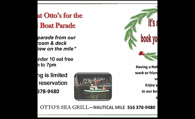 Freeport Holiday Boat Parade Dinner at Otto's Sea Grill