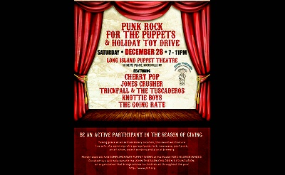 Punk Rock for the Puppets and Toy Drive!
