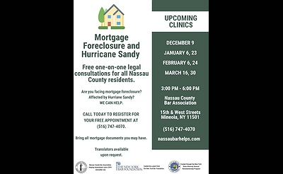 Free Mortgage Foreclosure Clinic at the Nassau County Bar Association