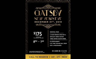 Gatsby New Year's Eve at Harbor Club at Prime