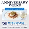 Anniversary Weeks at H2O