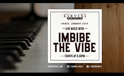 Imbibe The Vibe at Karvers Grille