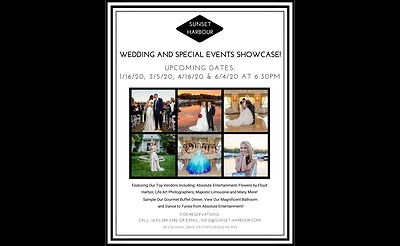 Wedding and Special Events Showcase at Sunset Harbour!