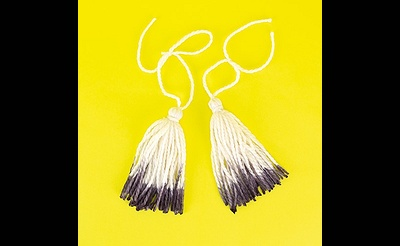 MAKE break Dip Dyed Tassels