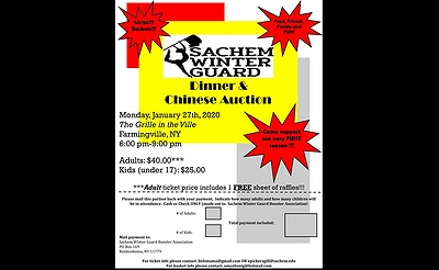 Sachem Winter Guard Dinner/Chinese Auction