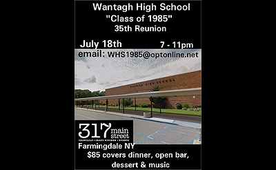 Wantagh High School 35th Reunion