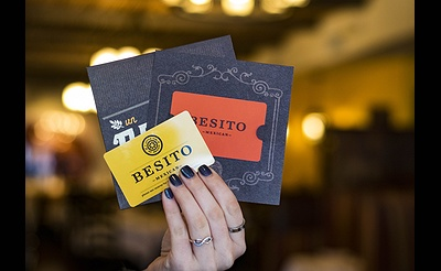 Our Gift to You: Receive A $20 Bonus Card* for Every $100 in Besito Gift Cards purchased