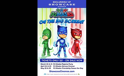 Showcase Cinemas' Event Cinema Presents: PJ Masks Heroes Forever