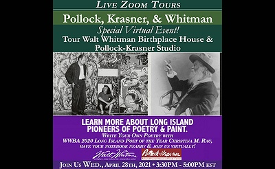 Pioneers of Painting&Poetry, Pollock, Krasner,&Whitman Virtual Tours & Poetry Writing