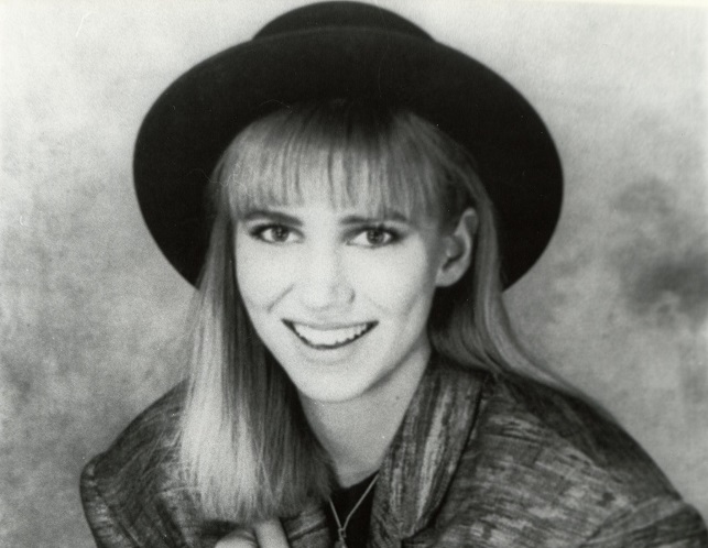 66c6d7f5713 An old black and white of Debbie Gibson taken from the 80s. Photo by MR O