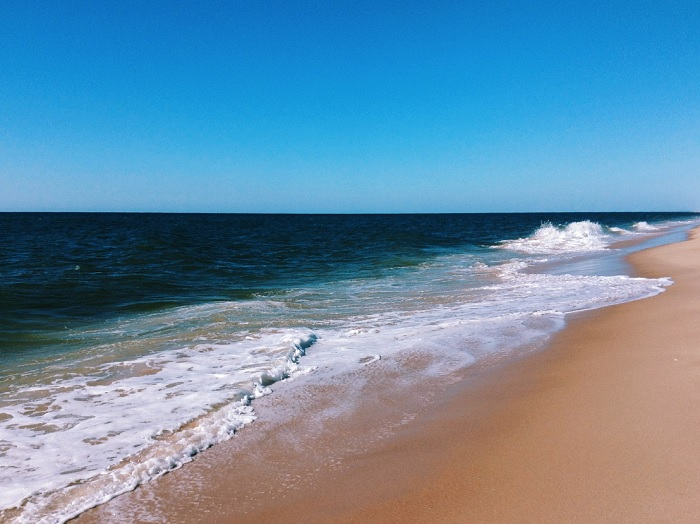 An East Hampton Beach Under A Blue Sky Photo By Rebecca Dawn Hamilton Via Flickr